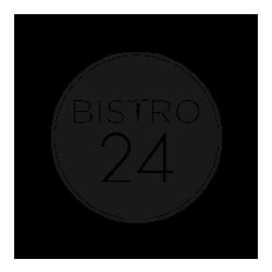 Bistro 24 black & white logo