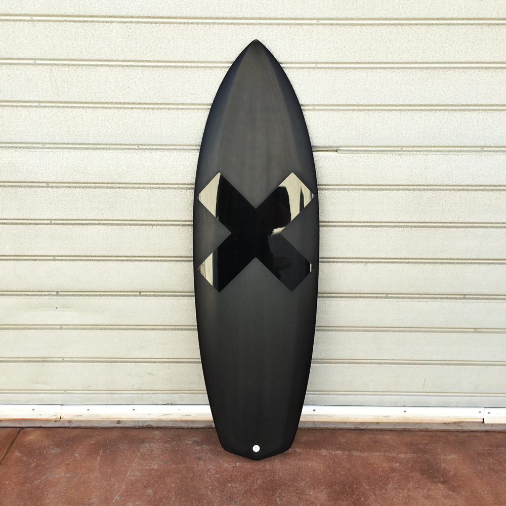 surfboard with X graphic
