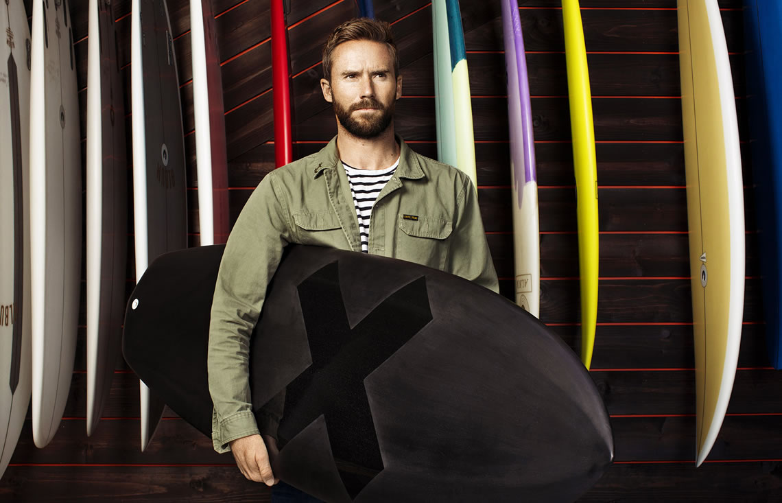 shaper Matt Parker of Album Surfboards