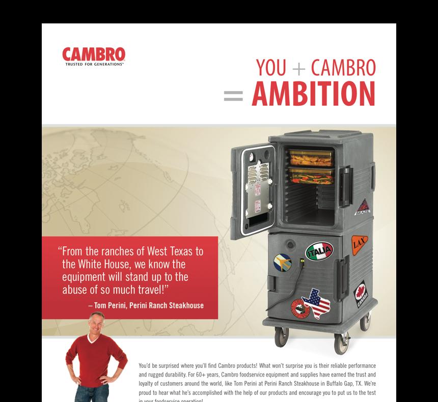 Cambro 2012 print campaign