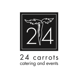 24 carrots black & white logo
