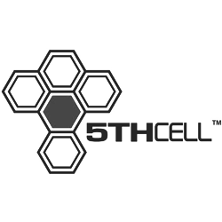 5th Cell black & white logo