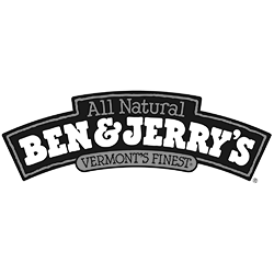 Ben & Jerry's black & white logo
