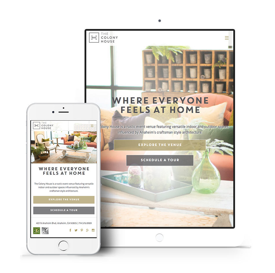 The Colony House Responsive Web Design