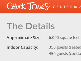 Chuck Jones Center website detail