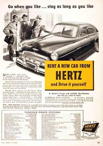 1949 Hertz ad