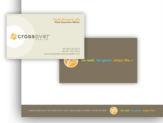 Crossover Health business cards and letterhead
