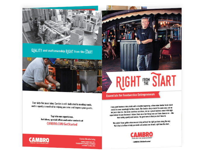 small business brochure for Cambro
