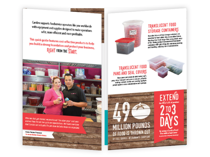 Specialty business brochure for Cambro