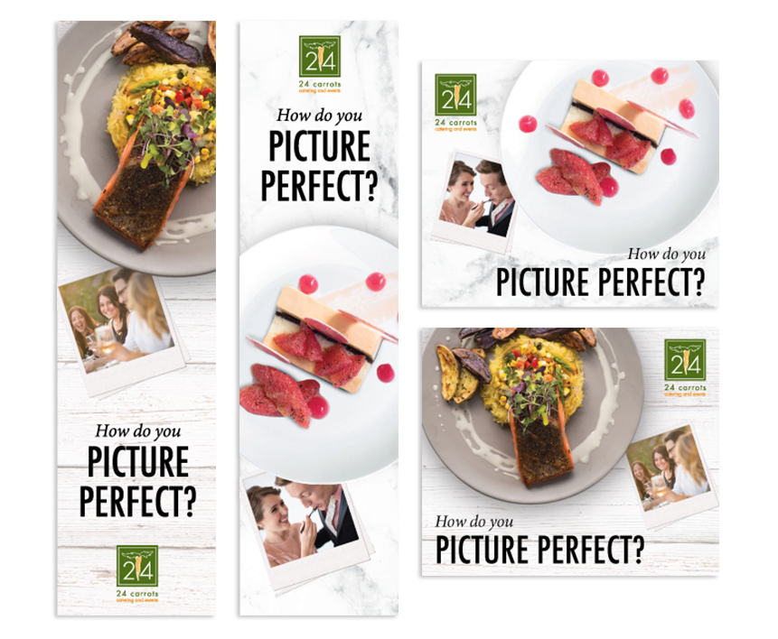 24 Carrots - Picture Perfect campaign digital banner ads