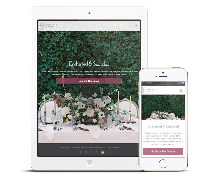 Franciscan Gardens Responsive Website