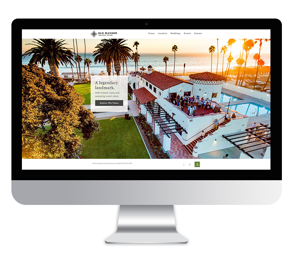 Ole Hanson website screenshot