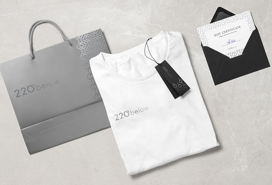 220 below branded collateral