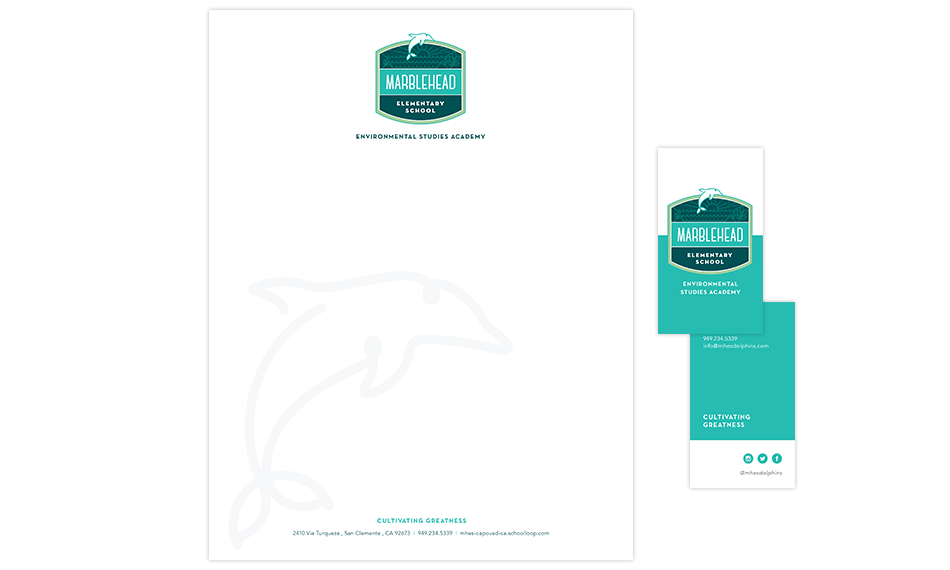 marblehead elementary school identity and branding