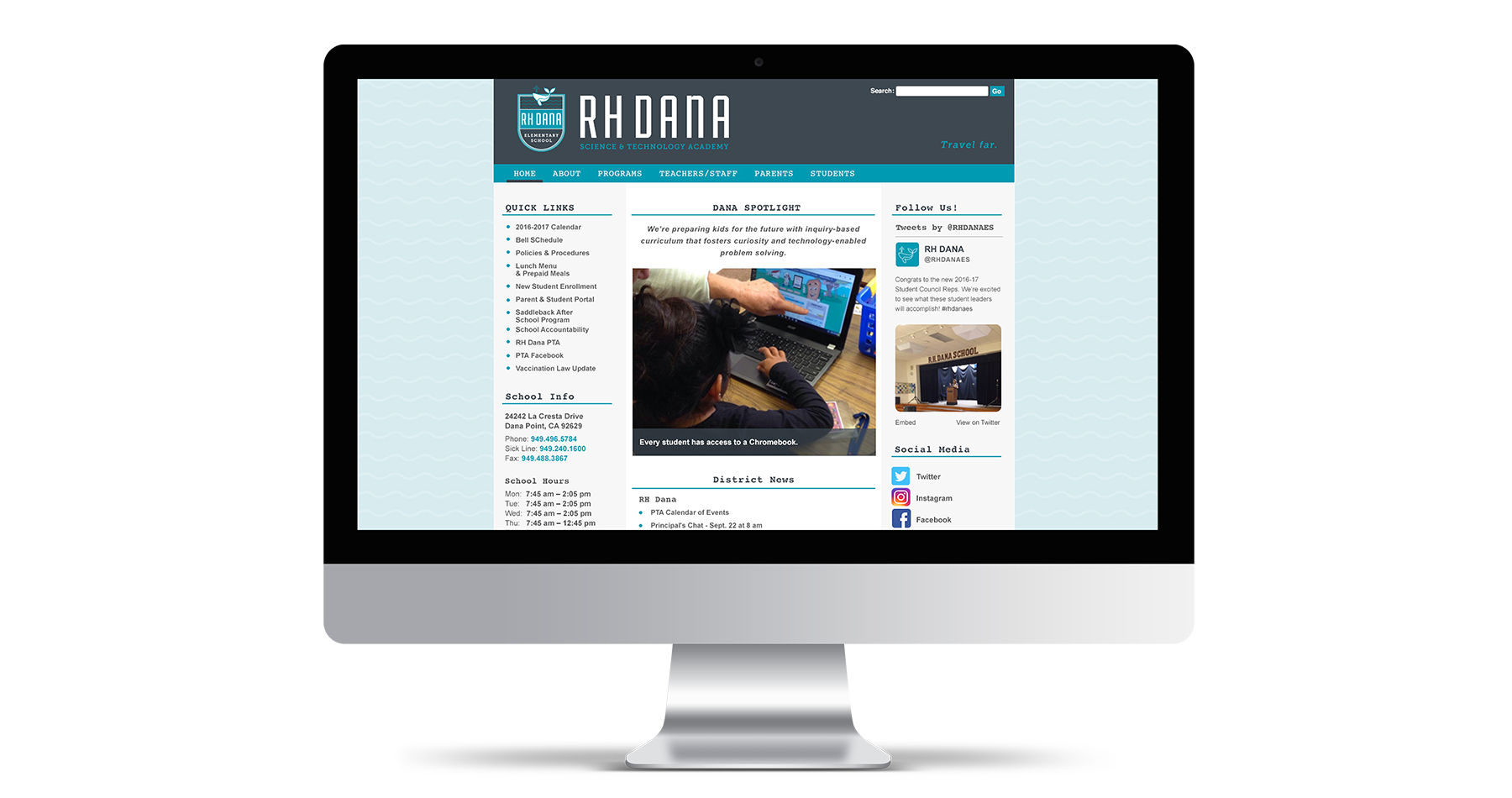 rh dana elementary school website design
