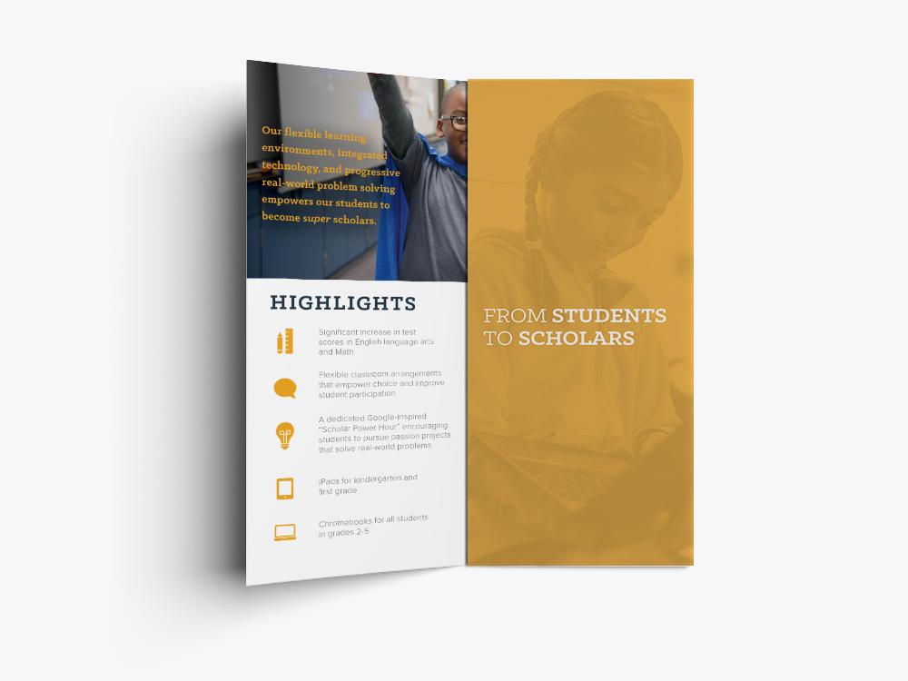 hidden hills elementary brochure design