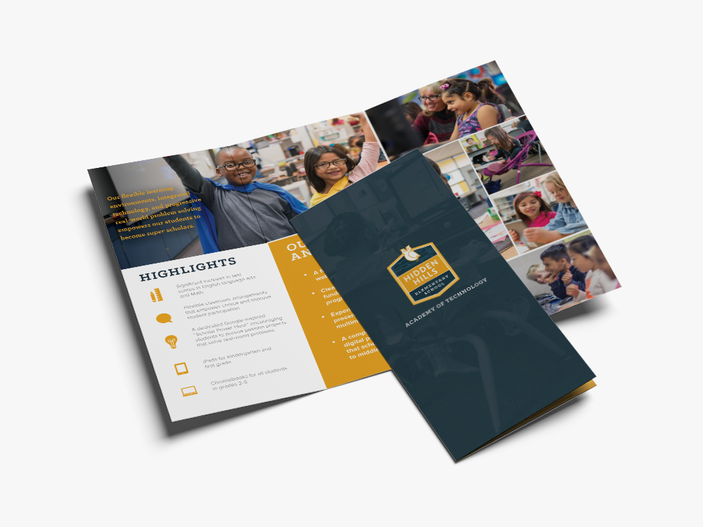 hidden hills elementary brochure design