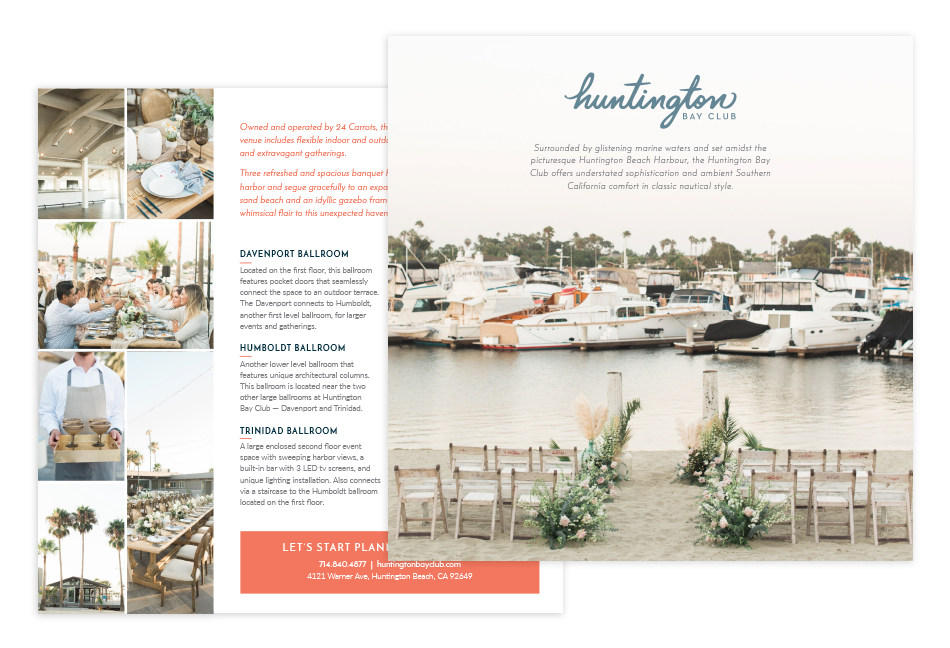 Huntington Bay Club venue postcard