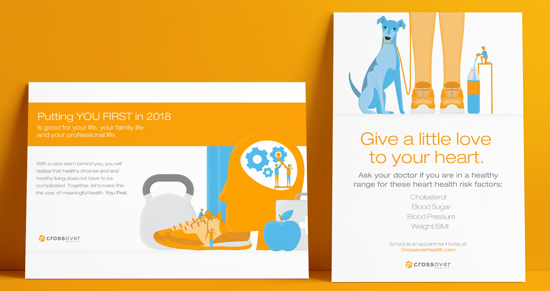 Poster designs for healthcare campaign